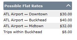 Possible Flat Rates
